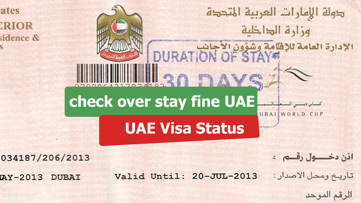How To Check Overstay Fine In UAE.