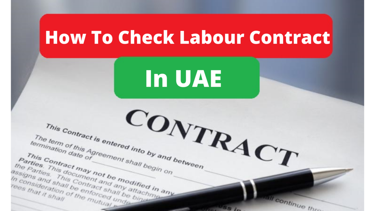 How to check your labor contract in UAE.